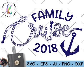 Family Cruise svg Cruise rope hand drawn svg rope letters print svg decal cut file silhouette cricut cameo instant download vector svg png
