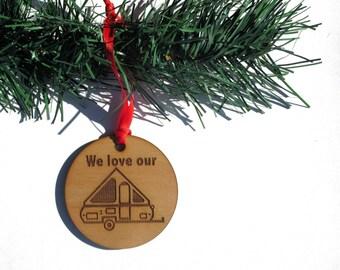 A-Frame Pop Up Camper Christmas Ornament, A-Frame Travel Trailer Ornament,  Camper Christmas Ornament, A-Frame Christmas Tree Ornament, Camp