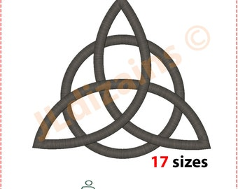 Triquetra Embroidery Design. Trinity knot embroidery. Celtic symbol embroidery. Embroidery designs celtic. Machine embroidery design.