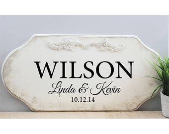 Custom Wood Sign Family Name Sign Personalized Wedding Gift Last Name Established Sign Wedding  Wedding Last Name Sign