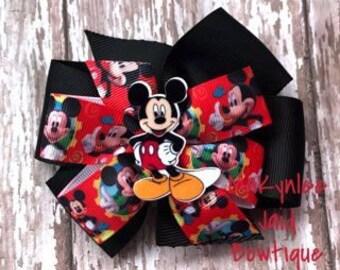 Mickey Mouse Pinwheel Hairbow