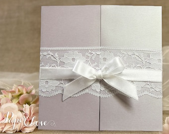 Personalised Day Wedding Invitations Evening Invites Handmade Vintage