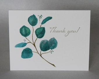 """Eucalyptus Branch """"Thank You"""" Cards"""