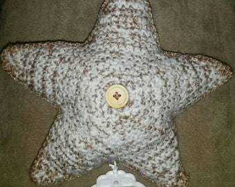 golden star music box, twinkle twinkle little star- baby music box - nursery music - crochet  babyshower gift - holiday gift-  golden star