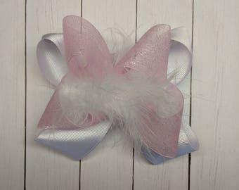 White Feather Bow