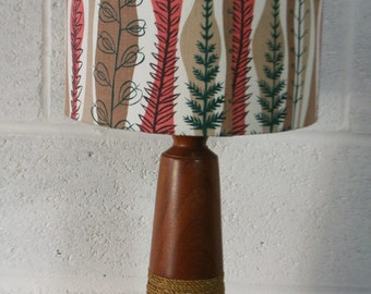 Handmade lampshade using vintage Coppice fabric by Mary White 1954