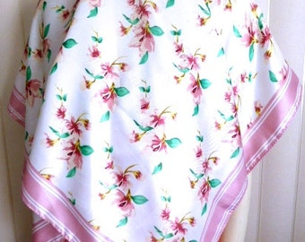 """Vintage Godiva Chocolate Spring Scarf Made in Korea 45 by 45"""" MINT"""