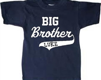 personalized big brother shirt, big brother tshirt, birth announcement, big brother t shirt, big brother t-shirt, big brother name