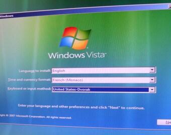 Clé USB bootable Dépannage informatique et Installation windows vista business langue  english  ,Français