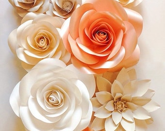 Large Paper Flowers - Wedding Paper Flowers - Paper Flower Backdrop - Giant Paper Flowers