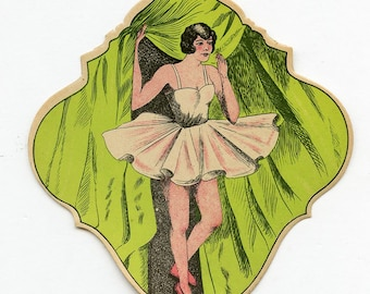 FRENCH BALLERINA Die Cut Card Suitable for Framing Ephemera Printed MORE AVAlLABLE 4932
