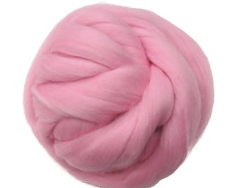 New! 21.5mic Merino Wool Roving , Color: Rosemist