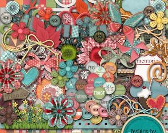 Friends ~Digital Scrapbook Kit~ Instant Download