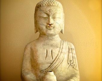 Buddha Wall Art, Buddha Art, Gold Buddha Print, Zen Art, Boho Wall Art, Meditation Art, Zen Decor, Asian Art,Yellow Yoga Art,Buddah Wall Art
