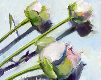 peonies // wall art // flower art // peony painting // giclee print // art
