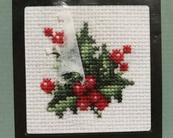 MAYniaSALE Counted cross stitch holly kit