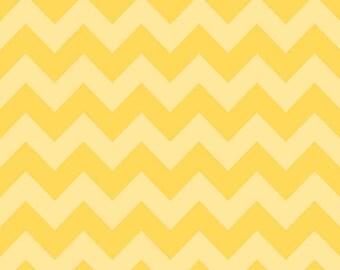 Chevron Yellow Tone on Tone for Riley Blake, 1/2 yard