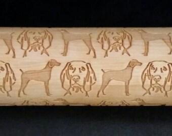 Weimaraner Dog rolling pin