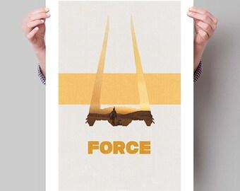"STAR WARS Inspired Episode VII The Force Awakens Minimalist Movie Poster Print - 13""x19"" (33x48 cm)"