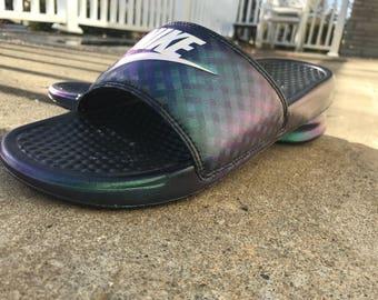 Chameleon Nike slides