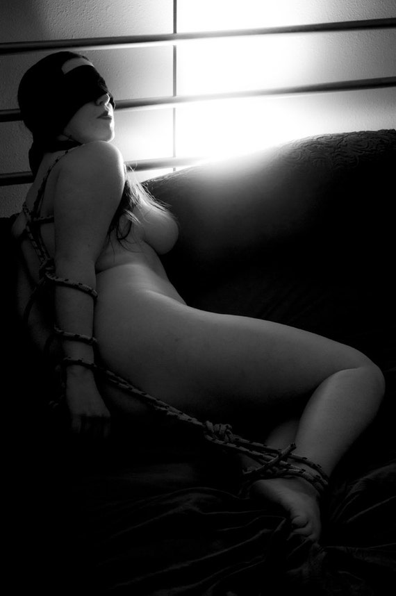 items similar to artistic nude photo print of a woman tied up with