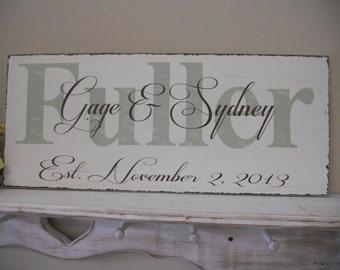 Wedding Sign, Personalized, Housewarming gift, Bride, Groom, Gift, Newlyweds, Barn Wedding, Country Wedding
