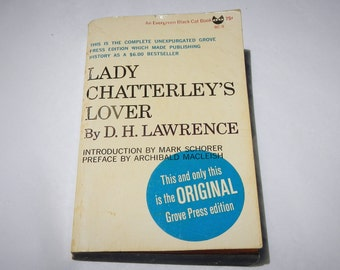 Lady Chatterley's Lover Vintage 1966 Paperback Book by D. H. Lawrence