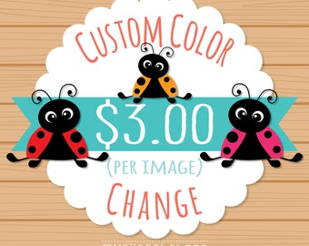 Custom color change for 1 (one) non-exclusive clipart, custom color for purchased clipart, myclipartstore