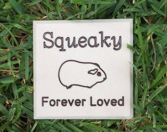 Guinea Pig Memorial * Custom Engraved Pet Headstone  * Grave Marker * Cemetery Stone * Gravestone