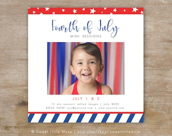 July 4th mini session template - patriotic mini session template - Fourth of July mini session  INSTANT DOWNLOAD