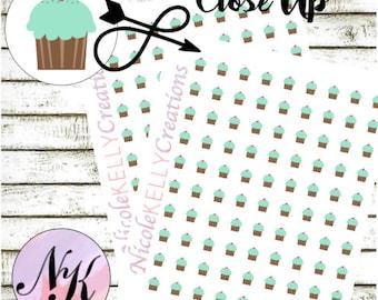 84 Cupcake Stickers, Planner Stickers, Birthday sticker, Cupcake stickers, use with Erin Condren Planner(TM), Happy Planner, planner,