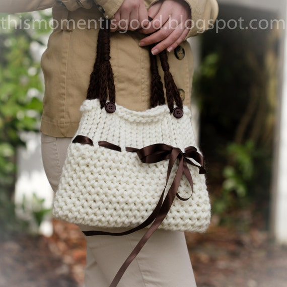 Loom Knit Handbag Pattern Ladies Purse Tote Pattern With