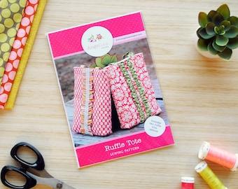 Ruffle Tote Bag HARD COPY Paper Sewing Pattern