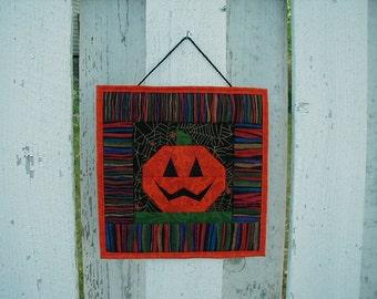 Quilted Wall Hanging (HWHG) Jack-O-Lantern