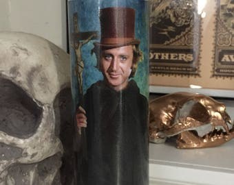 St Willy Wonka Gene Wilder Prayer Candle