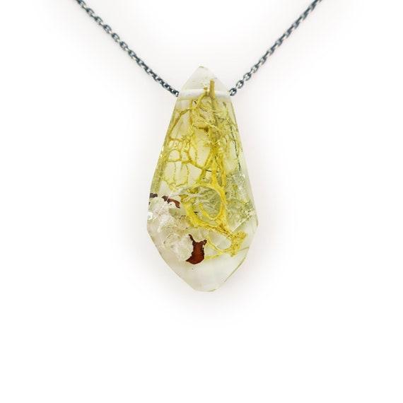 Terrarium Gem Eco Resin Necklace • Nature Necklace • Eco Resin Nature Necklace • Terrarium Jewelry • Botanical Jewelry • Plant Lady