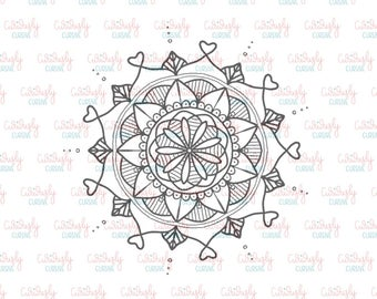Heart Mandala Print Out. 4x6.
