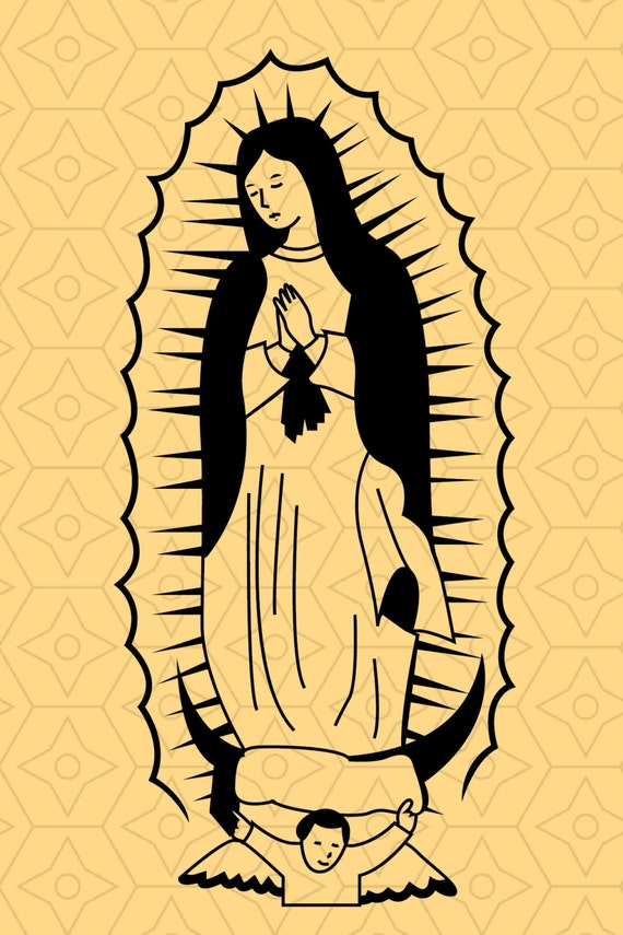Our Lady Of Guadalupe Design Svg And Dxf Files For Use With