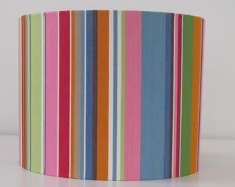 NEW Candy Pink Blue Deckchair Stripe Stripey Lampshade Lightshade