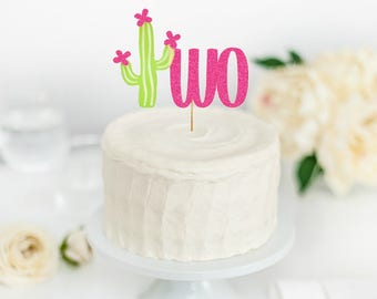 Cactus Birthday Party- Taco About a Party- Fiesta Party- Fiesta Birthday- Cactus Party Decor- Cactus Cake Topper - Cactus Two - 2nd Birthday