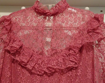 Vintage Lace ILGWU  1980's Dress