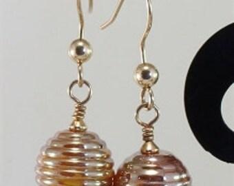 Lampwork Earrings Gold - SRAJD