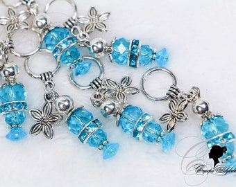 """Knitting Markers - """"Muscari"""" - Handmade Stitch Markers for knitting (7 PCs.) ring 11 mm."""