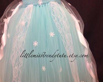 Elsa Costume, Frozen Costume, Elsa Tutu Dress, Frozen Tutu Dress, Elsa Costume with Cape, Frozen Tutu, Halloween Costumes, Frozen, Elsa