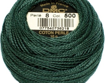 DMC 500  Perle Cotton Thread | Size 8 | Very Dark Blue Green