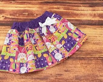 Easter Bunny Skirt, Easter Skirt for Girls, Bunny Skirt, Baby Girl Easter, Easter Outfit Girl, Easter Bunny, Baby Bunny Skirt, Handmade