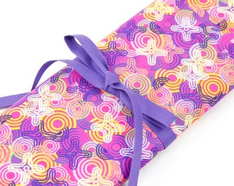 Knitting Needle Case - Frenzy - 30 purple pockets for straights, circulars, dpns and notions Large Knitting Needle Organizer Storage
