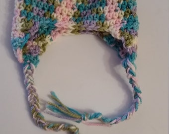 0-3month baby hat with earflaps