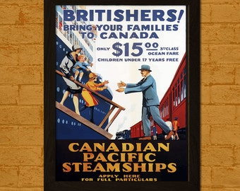 Canadian Pacific Travel Print - Travel Wall Decor Canada Print Travel Wall Art Canadian Print Canadian Pacific Poster