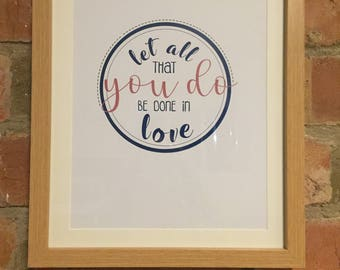 "Handmade Framed quote // 11""x13"" // wall art // typography // gift"